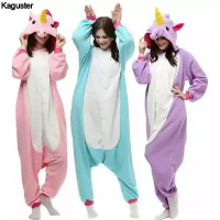 Anime Casual Hooded Unisex Kids Adult Pajamas Onesie Pyjamas Onsie Halloween Party Cosplay Sleepwear Unicorn