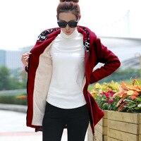 2018 Autumn Winter Thikening Warm Fleece Liner Hoodies For Women Casual Hoodies Woman Hooded Sweatshirts Plus Size S 4XL
