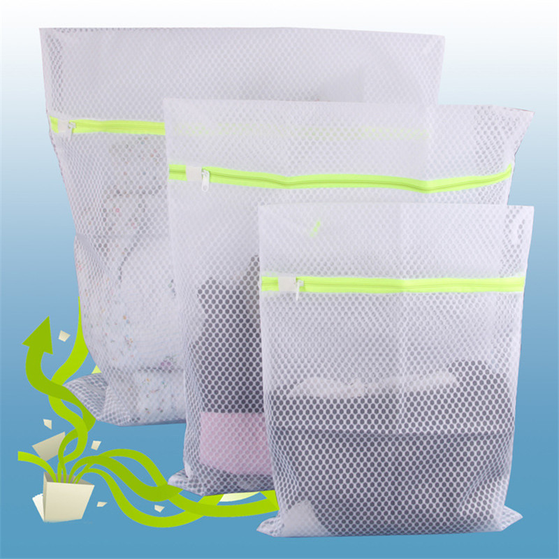 1pc Clothes Washing Machine Laundry Bag With Zipper Basket Mesh Bag Household Cleaning Tool Accessories Laundry Wash Care Bags