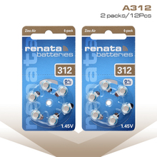 12Pcs = 2 Cards High Performance Hearing Aid Batteries Zinc Air 312 A312 ZA312 PR41 S312A Button Battery for BTE aids