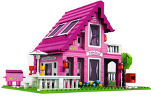 Model building kits compatible with lego city girls friends house 3D blocks Educational model building toys