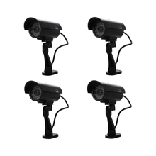 Security Surveillance fake Dummy IR LED cameras – Night/Day Vision Look Bullet CCD CCTV Imitation Dummy Camera Black