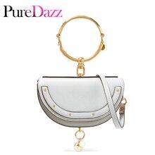 Роскошная женская сумка, брендовая сумка на плечо, половина Сумочка с изображением Мун, модная сумка через плечо, натуральная кожа, кошелек, кольцо, женская сумка