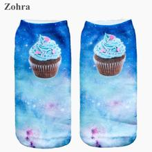 Space muffin Graphic 3D Full Print Women's Men Girls Cute Unisex Low Cut Ankle Socks Multiple Colors Cotton sock Casual Hosiery
