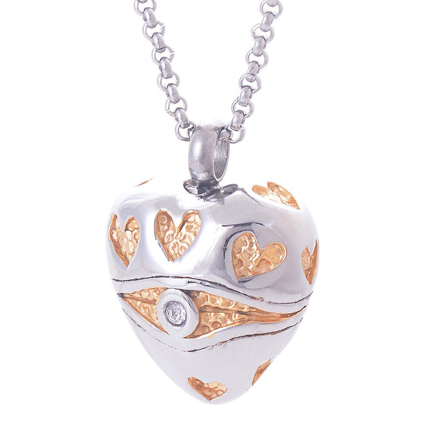 Cat eye hearts memorial cremation jewelry stainless steel ashes cat eye hearts memorial cremation jewelry stainless steel ashes urn keepsake necklace pendant mozeypictures Images