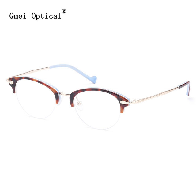 fd48412f1927d Gmei Optical T9107 Fashion Browline Optical Eyeglasses Frame for Men and Women  Eyewear Prescription Spectacles