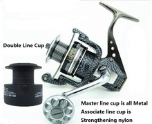 New! Double line cup for 5.5:1 13BB Seamless Metal Spinning Fishing Reel Carp Bass Sea Fishing Reel Fishing Tackle SSG1000-7000