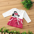Free shipping 2017 Baby Girls Dress Cute Minnie Long Sleeve Spring Sport Princess Style Party Clothing