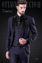 Latest Coat Pant Design Italian Purple Men Suit Slim Fit 3 Piece Tuxedo Groom Suits Custom Classical Prom Blazer Terno Masculino