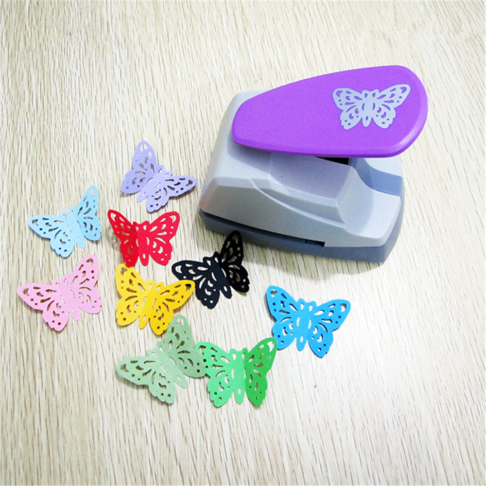 1pcs Butterfly Silhouette and Embossing Craft Lever Punch Cards Arts Office School Supplies 1pcs sample laser cut bride and groom marriage wedding invitations cards greeting cards 3d cards postcard event party supplies