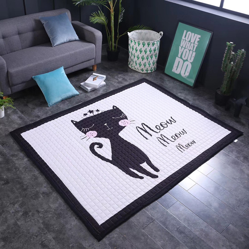Style nordique tapis dessin animé Animal 3D impression chambre enfants jouer tapis doux flanelle mémoire mousse grands tapis tapis pour salon