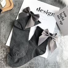 21 Colors.Chic Streetwear Women's Lovely Candy Color Bow Socks.Casual Female Contrast Color Short Socks.Cute Ladies Bow knot Sox