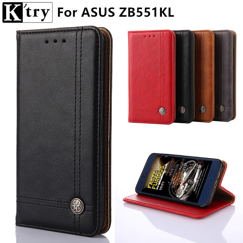Ktry Cover Case For Asus Zenfone GO TV ZB551KL Flip PU Leather Wallet Case For Asus ZB551KL With Card Holder Stand Design ...