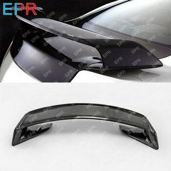 Untuk Nissan R35 GTR Carbon Fiber Belakang Spoiler Tubuh Kit Mobil Styling Auto Tuning Bagian untuk GTR R35 Tambang Belakang spoiler (dengan Base)