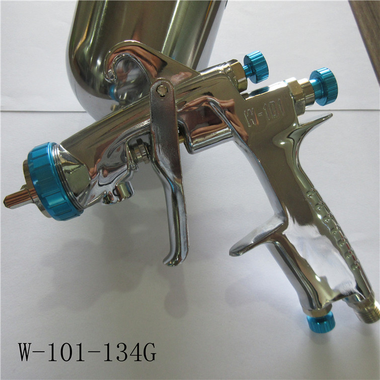 free shipping, W101 spray gun,W-101 painting gun,HVLP manual gun,gravity feed type,car painting,good atomization, with cup цена
