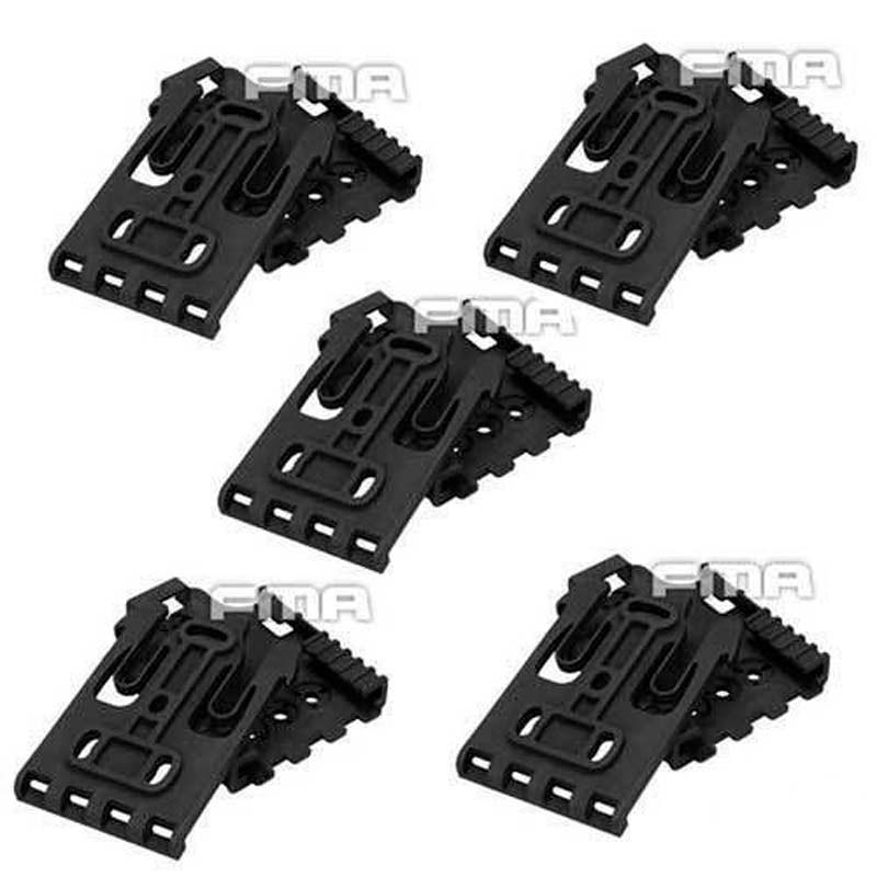 5set lot Hot FMA Tactical Safariland Quick Locking System Kit Safariland Holster QLS Kit BK DE