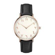 Fashion arabic numerals rose gold women watches top brand comfortable leather ladies dress watch montre femme dropshipping clock