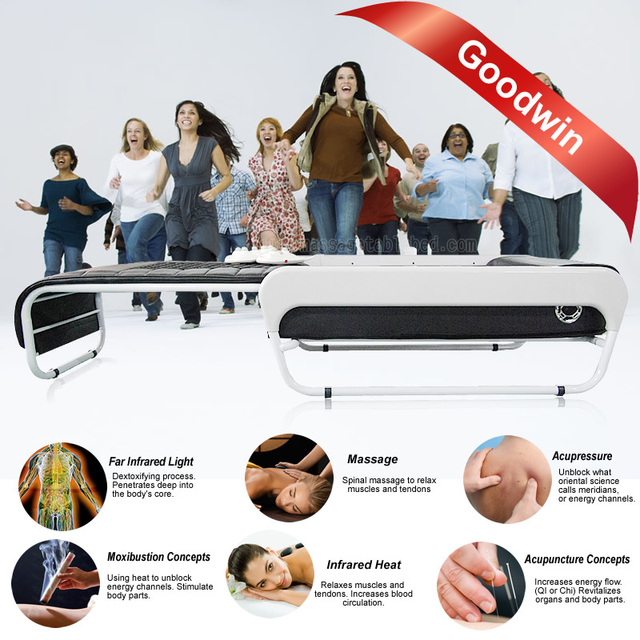 3D luxury thermal jade massage bed nuga best thermal jade massage bed with lift and MP3 function