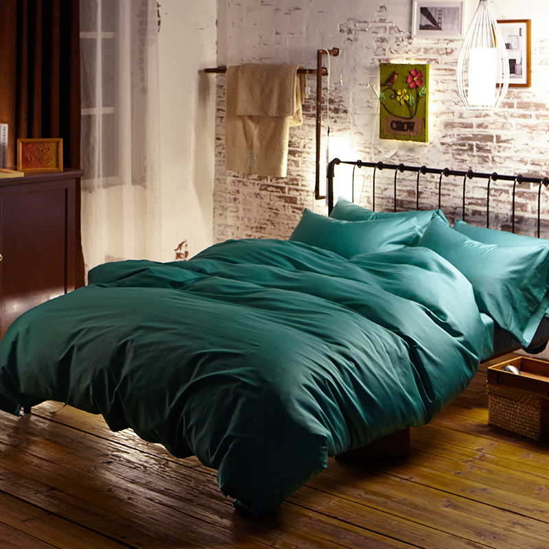 Blue green turquoise Egyptian cotton bedding sets bed sheets queen duvet cover king size quilt doona linen Luxury double 4pcs