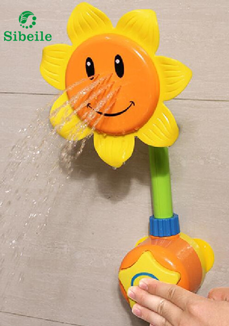 SBLE Sunflower Child Shower Head Lovely Cartoon Show Heads ABS Animal Hand  Shower Child Shower Bath