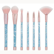7pcs Unicorn Diamond Handle Glitter Makeup Brush Set Shinny Foundation Blending Power Eyeshadow Cosmetic Beauty Make Up Tool Kit