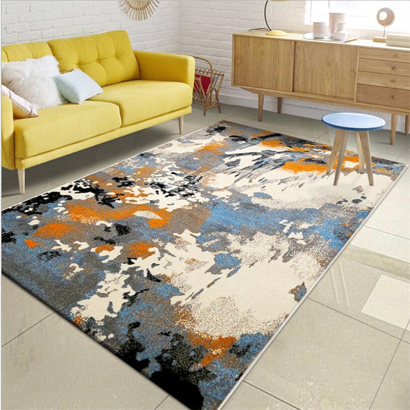 Abstract Style Soft Carpets For Living Room Bedroom Kid Room Rugs Home Carpet Floor Door Mat American Style Delicate Area Rug