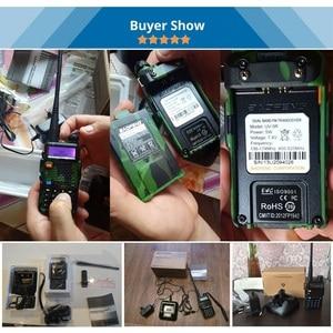Image 5 - Baofeng UV 5R Walkie Talkie Çift Bant UV5R Taşınabilir CB Radyo Istasyonu El UV 5R UHF VHF Iki yönlü Radyo avcılık Amatör Radyo