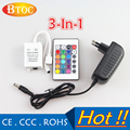 24 Keys IR Remote Controller Wireless DC 12V 2A Power adapter AC100-240V  For 3528 5050 RGB SMD LED Strips RGB Controler