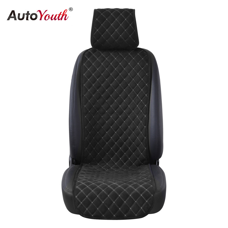 AUTOYOUTH Fashion Car Seat Cushion Universal Nano Cotton Velvet Cloth Car Seat Cover Fits Most Car Or SUV 4 Colour Car Styling