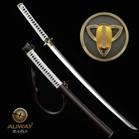 Japanese Samurai Walking Dead Sword Hand Forged Zombie Michonne's Sharp Katana Swords Real