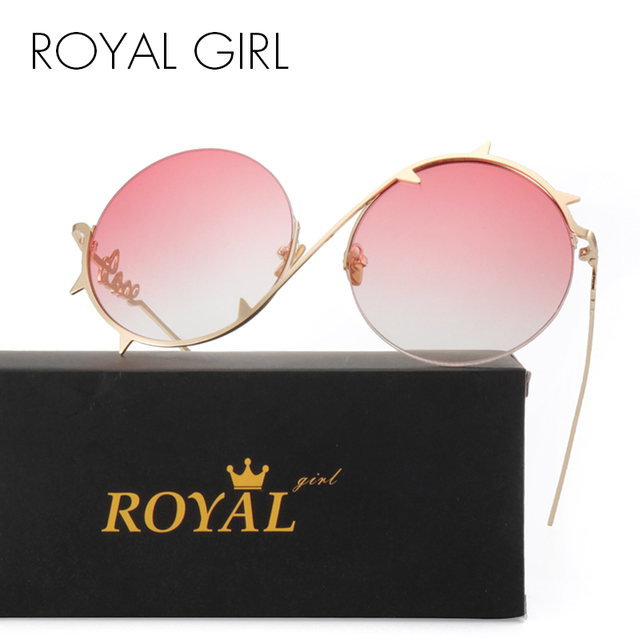 dfdf62ff2a4 ROYAL GIRL 2019 Retro Round Sunglasses Women Brand Designer Sun Glasses For  Women s Half-frame