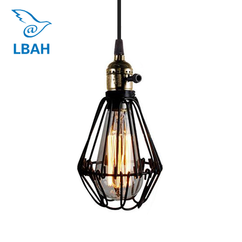 цены E27 socket Loft Droplight Retro Pendant Lights lampshade warehouse style light fixture