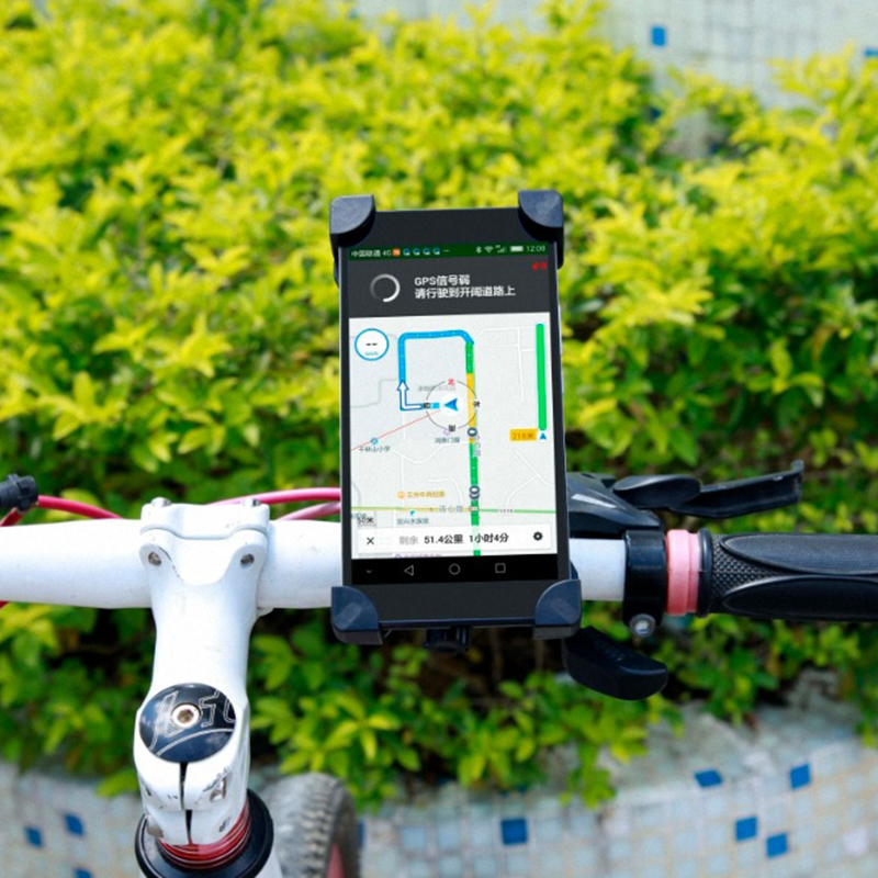 Cycling Universal 360 Rotating Bicycle Phone Holder Motorcycle Handlebar Clip Stand Mount Smart Mobile Cellphone Bracket