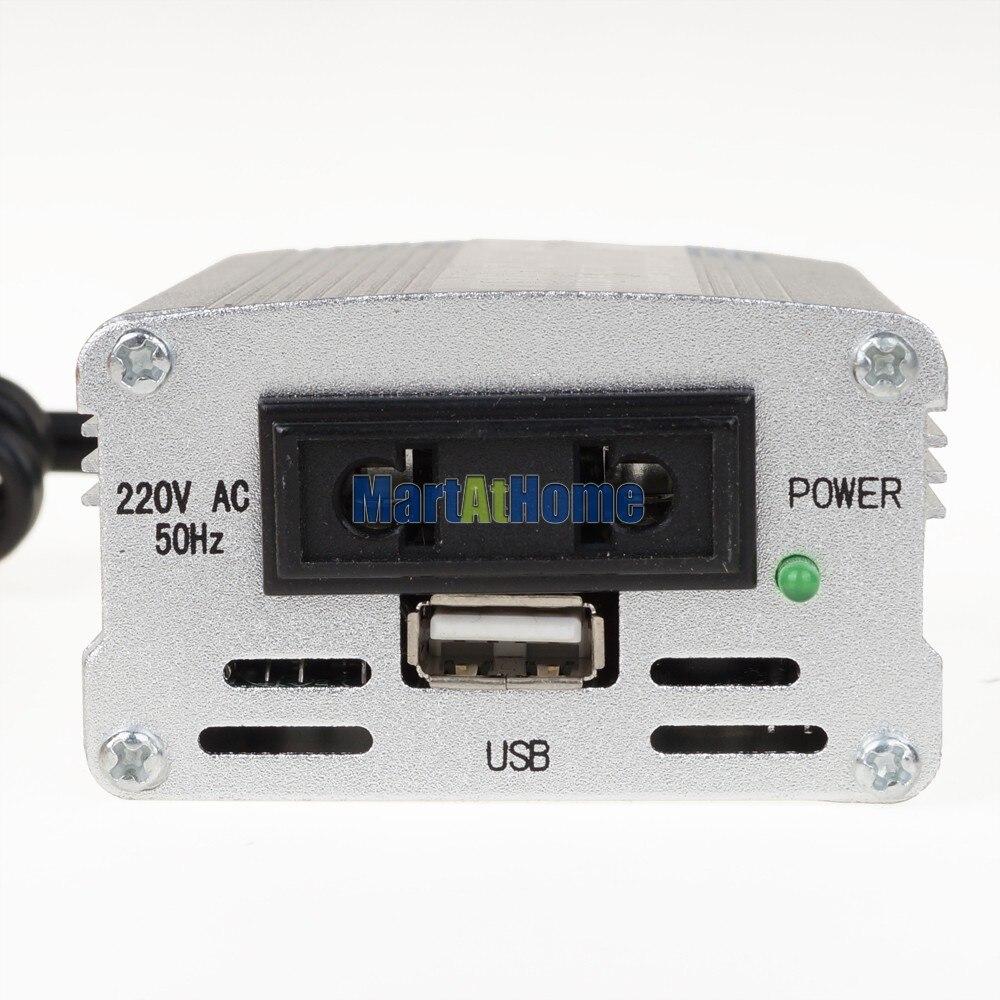10 шт. 200 Вт 12 В постоянного тока до 220 В переменного тока USB Мобильный автомобильный инвертор модифицированная Синусоидальная волна#10190@ EF
