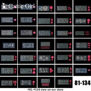 Image 2 - 134 шаблонов, 3D акриловая Форма для украшения ногтей, силиконовые формы, шаблоны для дизайна ногтей, шаблон, форма, искусственный дизайн
