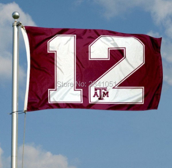 18fafc43d Texas A&M Aggies 12th Man Throwback Team American Outdoor Indoor Football  College House Flag 3X5 Custom Any Flag