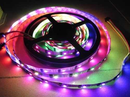 32 светодиодов/M 32IC 1 м rgb неоновый Светодиодные ленты WS2801 32 IC 5 В DC RGB красочные светодиодный пиксель свет ленты без watrerproof Ambilight