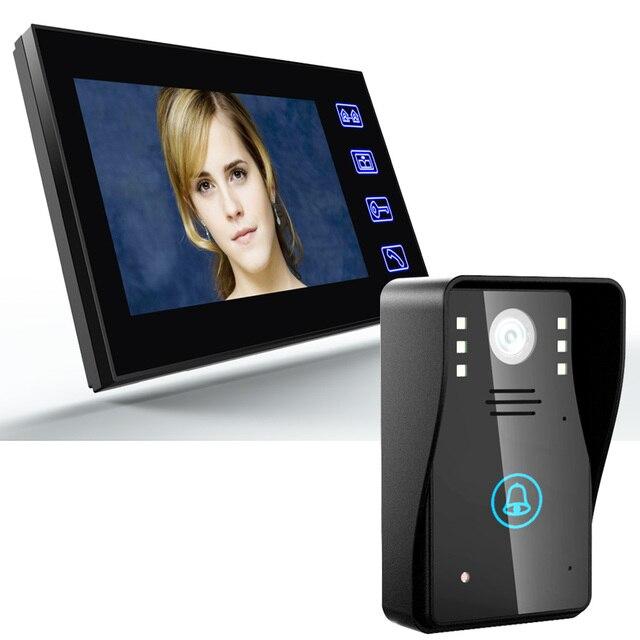 """7 """"TFT wideodomofon domofon z IR CUT kamera na podczerwień HD 1000 linia telewizyjna Night Vision Security kamera telewizji przemysłowej"""