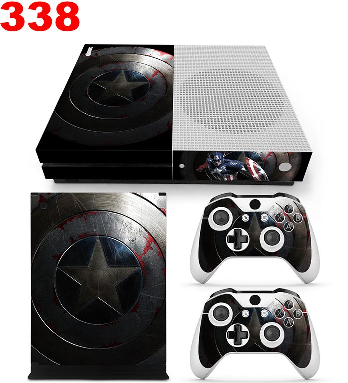 Vinyl skin sticker for Microsoft Xbox one slim console and 2pcs controllers skin for xbox  one S