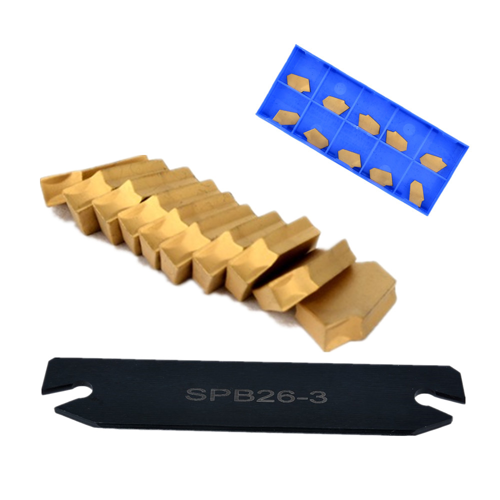 1 Set Metal SPB26-3 26mm Parting Grooving Cut-Off Blade Tool Holder + 10pcs GTN-3 SP300 Insert For Machine Tools Accessories free shiping smbb 2526 part off block indexable parting off tool stand holder 25mm high blade 26mm tool post for lathe