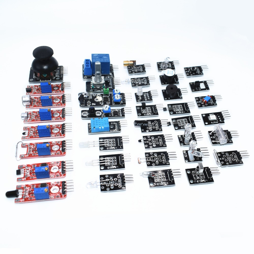 Sensor Kit 37 In 1 Sensor Kit For Arduino RRGB Joystick Photosensitive Sound Detection Obstacle Avoidance
