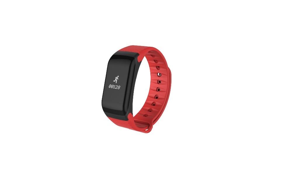 Smartch F1 Bluetooth Smart Wristband Pedometer Smartband Heart Rate Monitor Smart Band For Xiaomi Meizu PK