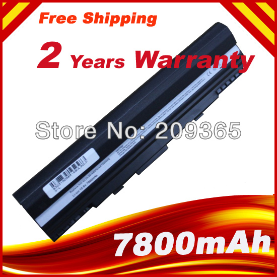 7800mAh 9 CELLS laptop batteri för 90-NX62B2000Y 9COAAS031219 A31-UL20 A32-UL20 Eee PC 1201 1201HA 1201N 1201T UL20A UL20FT