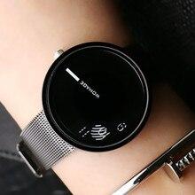 Модные популярные Брендовые женские и мужские наручные часы из нержавеющей стали, кварцевые студенческие часы уникального дизайна