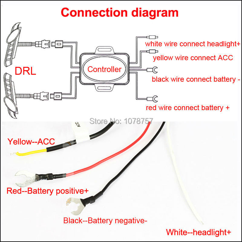 Light Guide Design LED DRL Daytime Running Lights Suitable For – Led Drl Lights Wiring Schematic