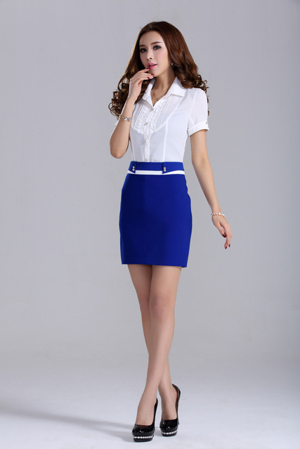 c23f6cefa2ac blue Bodycon Ladies Office Corporate Work vintage Formal Pencil Skirt tight  Pearl wear linning high waist pencil skirt