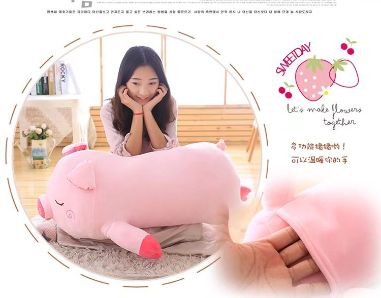 big plush pink pig toy lovely soft pig pillow doll gift about 100cm lovely giant panda about 70cm plush toy t shirt dress panda doll soft throw pillow christmas birthday gift x023