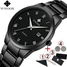 Мужские часы 2019, роскошные брендовые полностью черные наручные часы, мужские часы, лучшие брендовые Роскошные модные спортивные деловые часы 2018