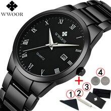 Relojes de hombre 2019 de marca de lujo negro completo relojes pulseras hombre reloj de marca superior de lujo moda reloj de negocios deportivo 2018