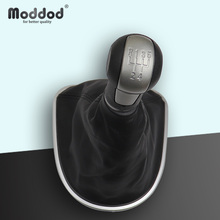 Manual Gear Shift Knob for Seat Leon II Altea Toledo III With Gaitor Boot Cover 5 Speed Car Stick Lever 12mm Hole